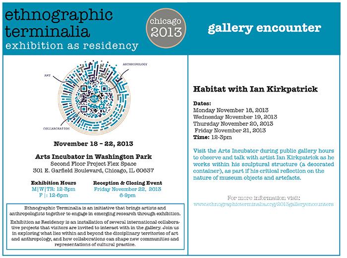 Habitat with Ian Kirkpatrick (Ethnographic Terminalia 2013) Web